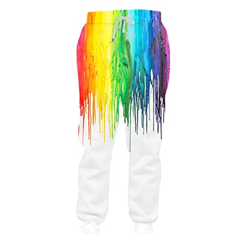 Aeropostale Rock (Baggy Pants Bunte Farbe 3D Print Joggers Hose Unisex Outdoor Straße Lässig Hip Hop Punk Rock Fitness Jogginghose Dollar Pants 4XL)