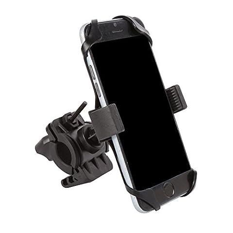 Vélo support pour téléphone portable/GPS Navigator support Nouveau Style antidérapant universel pour moto voitures électriques Vélo de montagne pour Samsung Xiaomi Huawei téléphone portable Accessoires, noir