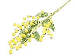 Idea Regalo - takestop® Ramo Mimosa Artificiale 5 Pezzi Giallo FINTE RAMETTO Fiori Festa della Donna Decorazioni COMPOSIZIONI Floreale CASA Regalo