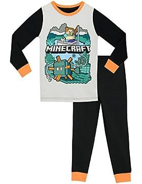 Minecraft - Pijama para Niños - Minecraft - Ajuste Ceñido