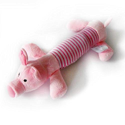 Isuper quietschendes Plüschtier, Schwein, Elefant, Ente, Ball, Spielzeug für Hunde