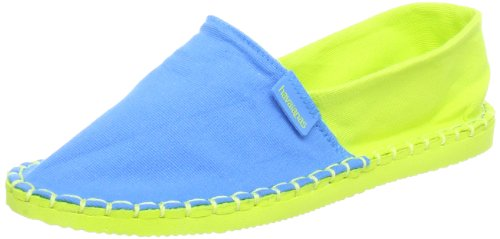 Havaianas Origine Kids, Espadrillas Unisex-bambino, Blue/Lemon Green, 31 EU