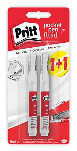 Pritt Korrektur Pocket Pen flüssig, 2-er Vorteilspack, 2 x 8 ml