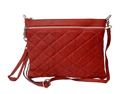 Bags4Less Rio, Poschette giorno donna rosso s rosso