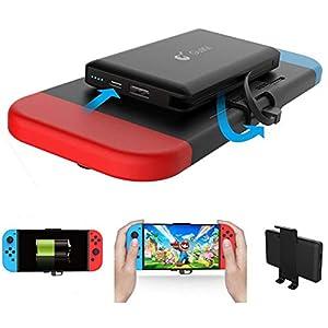 10000mAh Nintendo Switch Ladegerät – Wiederaufladbare Extended Batterieladegerät – Compact Reise Backup Batterie für Nintendo Switch