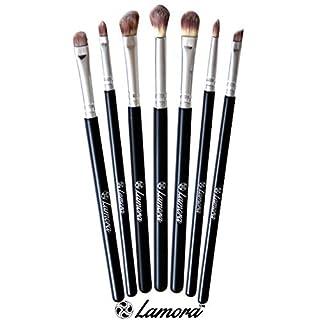 Bestes Augen Make Up Pinselset - 7 Makeup Augenpinsel - Beauty Pinsel Set zum Verblenden von Lidschatten, Kosmetik Puder, Highlighter und Concealer - Lidschattenpinsel und Schminkpinsel für Smokey Eyes und andere beliebige Looks