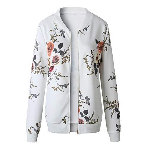 TOPKEAL Dick Jacke Warm Reißverschluss Oben Mantel Damen Herbst Winter Sweatshirt Hoodie Beiläufig Pullover Outwear Coats Mode Tops (X-Large,Weiß) Mantel Top Coat