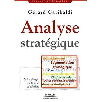 Analyse stratégique: Environnement Segmentation stratégique Diagnostic Gestion du portefeuille Chaîne de valeur