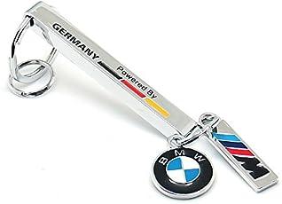 BMW Logo Keychain Solid Metal Bar Keyring for BMW ///M 5 series 3 series M Sports