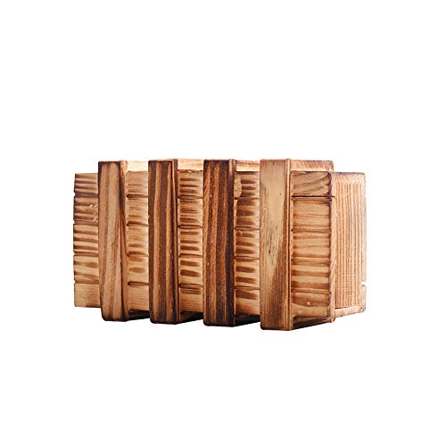 YaptheS 1PC The Magic Box Puzzle Denkaufgabe Box magische Geld-Geschenk-Box aus Holz Trick Puzzle-Spiele Magie Holzbox mit besonders sicheren Geheimfach (Brown) (Trick Geld-box)