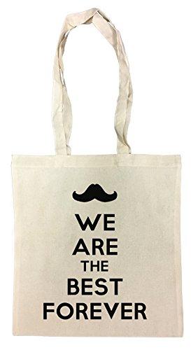 We Are The Best Forever Cotton Borsa Della Spesa Riutilizzabile Cotton Shopping Bag Reusable