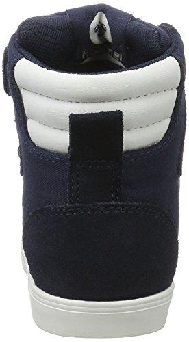 Hummel Slimmer Stadil Jr, Sneakers Hautes Mixte Enfant Bleu (Dress Blue)
