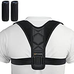 MYCARBON Corrector Espalda de Hombre Mujer Corrector Postural Enderezar Cuello y Espalda Corrector de Hombros Ajustable Faja para Espalda Elastico Soporte de Espalda Alivie el Dolor de Cuello y Hombro