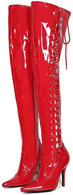 12 cm de Pointues Talon de Chaussures, Les Chaussures Pointues de du Simili - Cuir Fermeture des Bottes HautesB07GTM9FNVParent 357188