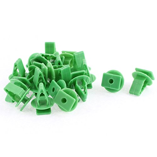 Preisvergleich Produktbild Sourcingmap® 20 PCS grün Kunststoff Interior Tür Kapuze Nieten DE de