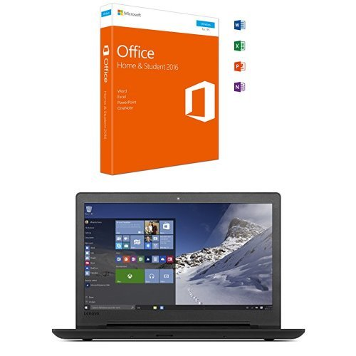 Microsoft Office Home and Student 2016 + Lenovo ideapad 110 39,62 cm (15,6 Zoll HD Glare) Notebook