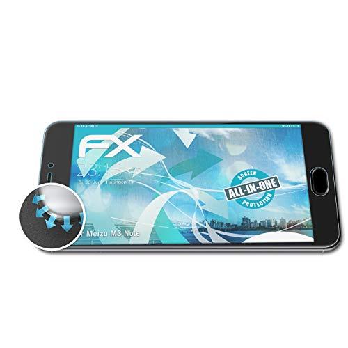 atFolix Schutzfolie passend für Meizu M3 Note Folie, ultraklare & Flexible FX Bildschirmschutzfolie (3X)