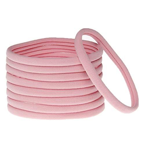 SLYlive Nahtlose elastische Haar-Zusätze der Kinder - Rosa