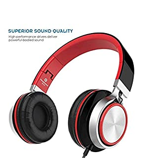 Foldable Headphones, HUANGDAMS200 Stereo Foldable Headset, Over-ear, Tangle Free Cable, Light Weight, Outdoors For Smartphones/ Mp3/4 Players/Laptops/ Computers/Tablet/ IPhone/Samsung/ IPod/Andri