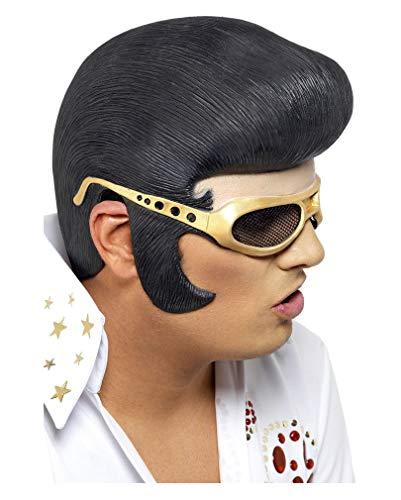 Lustige Elvis Perücke aus Latex