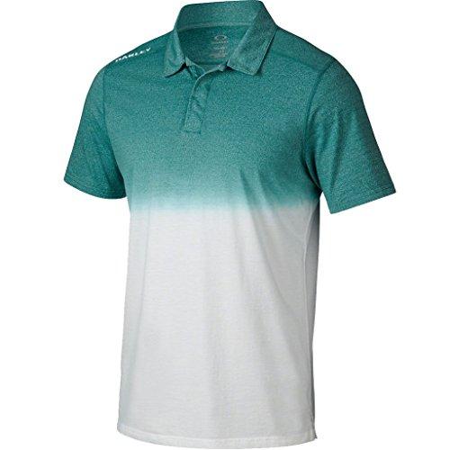 2015 Oakley Conley Top Mens Golf Polo Shirt Green Slate Small (Oakley-golf-polo-shirt)