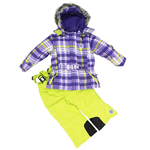 OMSLIFE Mädchen Kinder Skianzug Skijacke Regenlatzhose Verdickung Schneeanzug Jacket Skianzug Winter Skianzüge Winter Skianzüge Wintermantel Skianzug (Gelb, 92)  