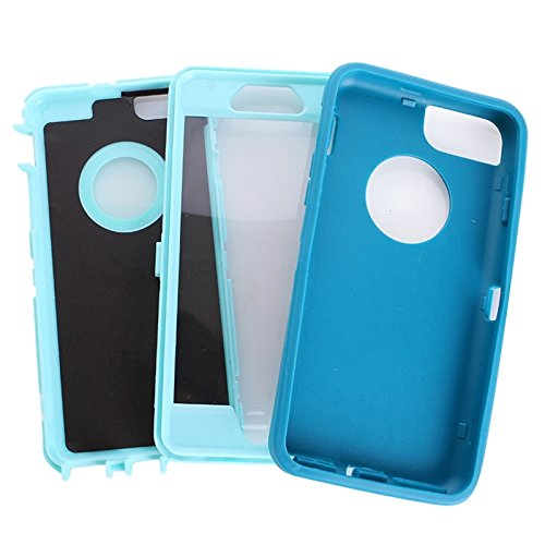Wkae Case Cover Bunte Plastik + TPU Kombination Hülle für das iPhone 6 ( : Black ) Blue