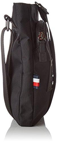 Tommy Hilfiger Herren City Nylon Flat Crossover Tasche, 2.5 x 25.5 x 23 cm Schwarz (Black)
