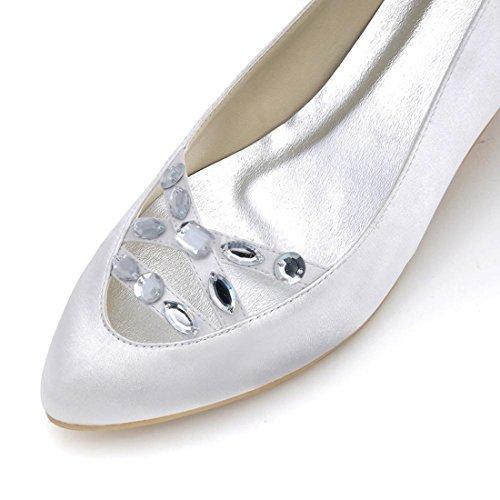 Minitoo MinitooUK-MZ8215, Escarpins Pour Femme White-5cm Heel