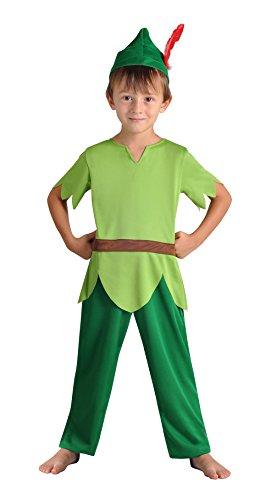 Cesar F038-001 - Costume per travestimento da Peter Pan, 3 - 5 anni