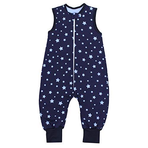 TupTam Baby Unisex Winter Schlafsack mit Beinen, Farbe: Sterne Blau/Dunkelblau, Größe: 104-110