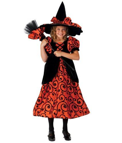 Princess Paradise Pocket Witch Orange Süße Hexe Kinder Fasching Karneval Kostüm Witch Costume (98/104) (Paradise Kostüme Princess)