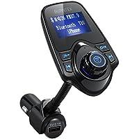 AVANTEK Trasmettitore FM Bluetooth, Chiamate Mani Libere per Auto, Lettore MP3, Supporta Musica nei Formati MP3 WMA su TF/ Micro SD Card