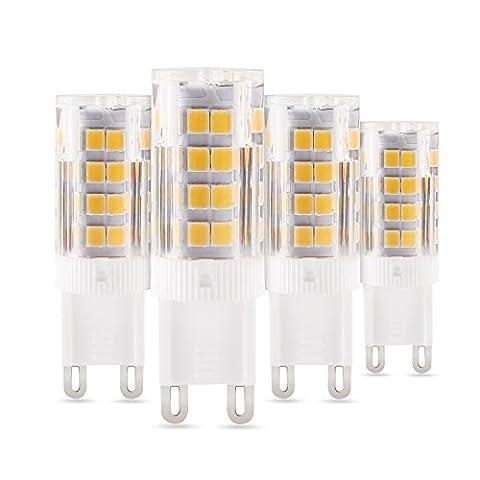 Albrillo 5W G9 LED Lampe 51*2835 SMD Warmweiß (3000 Kelvin), 310 Lumen, AC 230V, 4er Pack