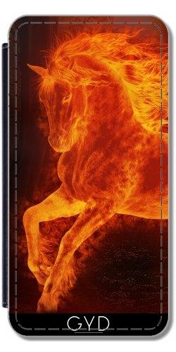 Leder Flip Case Tasche Hülle für Apple iPhone 6 Plus / 6S Plus - Vier Pferde by Illu-Pic.-A.T.Art