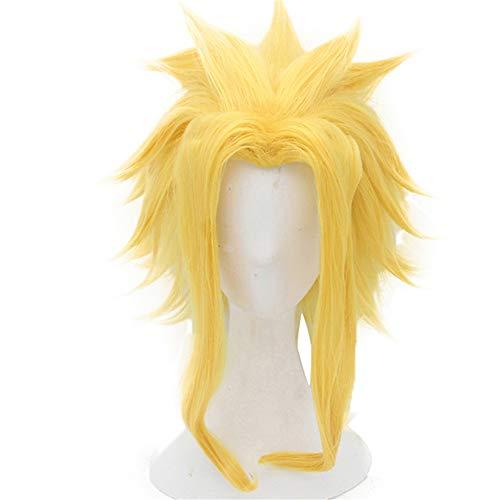 ZYC1 Hero All Might Kurze Gerade Gelbe Synthetische Cosplay Perücke Für Jungen Halloween Kostüm (Alle Jungen Halloween Kostüme)