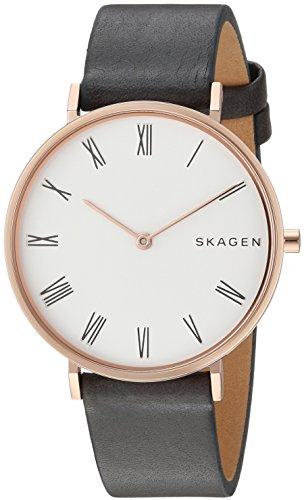 Skagen Femme Analogique Quartz Montre avec Bracelet en Cuir SKW2674