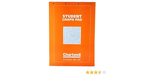 A3 1.5 mm 10 mm Orange Cover 50 Sheets Clairefontaine Chartwell Graph Pad