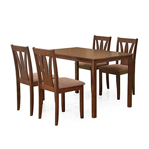 @home by Nilkamal Bony Four Seater Dining Table Set (Brown)  available at amazon for Rs.17745
