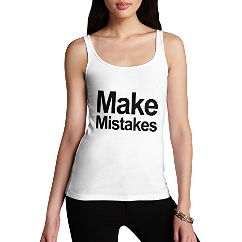 En coton femme Débardeur erreurs cadeau maquillage amusante Blanc - Blanc