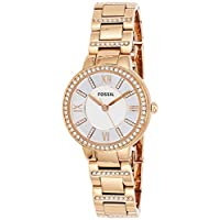 Fossil Womens Quartz Watch, Analog Display and Stainless Steel Strap ES3284