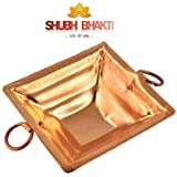 ShubhBhakti Copper Portable Havan Kund (Brown)