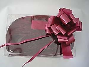 30 x Rapido Raso Tirare Archi - BORDEAUX 31mm (10.2cm Pollici Ampio when Formato) per il regalo Decorazioni, Fiore Mazzo di fiori & Composizioni, Cestini, Nuziale Macchine, Floreale Omaggi, Lavoretti Fai Da Te, Natale Cestini
