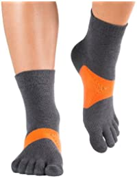 Knitido Marathon TS Chaussettes à doigts, Size:UK 2.5-5;Colours MTS:grey / orange