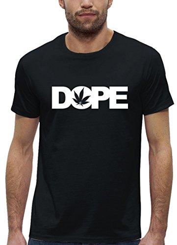 Hip Hop Premium Herren T-Shirt aus Bio Baumwolle mit Dope Cannabis Marke Stanley Stella Black