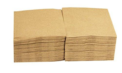 Saten Coktail, Servilleta 20x20, 2 capas, pliegue 1/4, 100 servilletas, punta-punta Caramelo