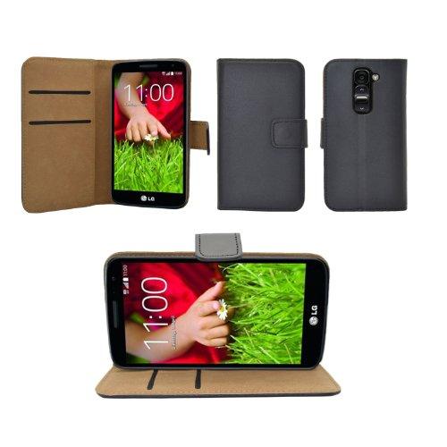 iProtect LG G2 Mini Kunstleder Tasche im Bookstyle schwarz Schutzhülle