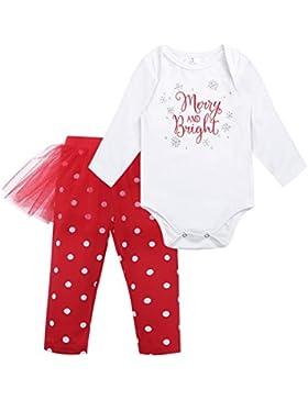 Tiaobug Babykleidung Baby - Mädchen Bekleidung im Set mit Langarmshirt und Hose 80 86 92 98