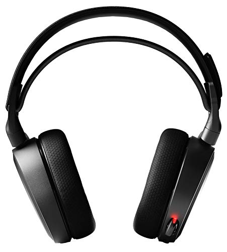 SteelSeries Arctis 7 -  Auriculares de Juego -  inalámbricos sin pérdidas -  DTS Headphone:X v2.0 Surround para PC y Playstation 4 -  Negro [Edición 2019]