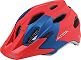 ALPINA Unisex Jugend Carapax Fahrradhelm, red-Blue, 51-56 cm